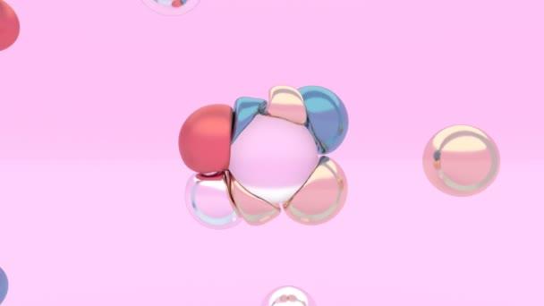 Weiche Körperphysik Minimale Bewegungskunst flüssige Kugeln schweben elastische Kugel 3d flüssige Kleckse