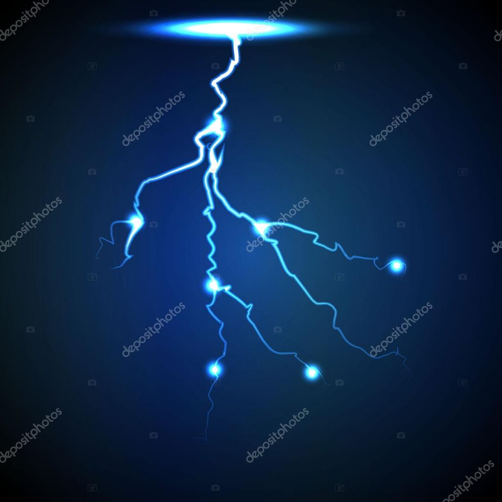 Vector Abstract Blue Lightning Flash Background 2 Stock