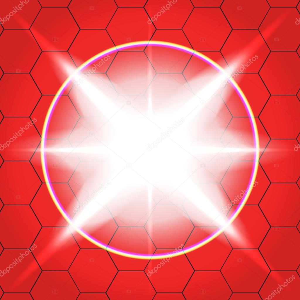Vector effects background. Red 11