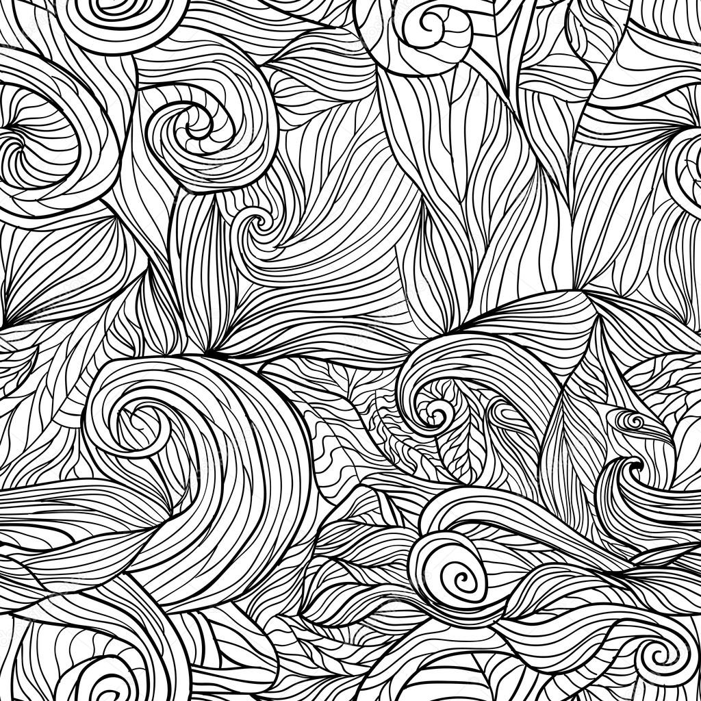 Seamless pattern with abstract feathers Vector 1