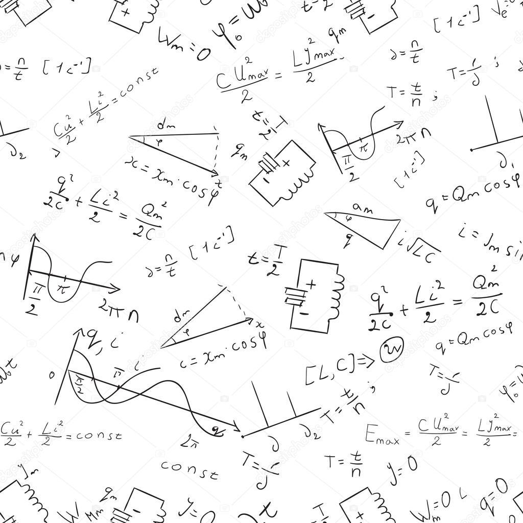 Maths seamless pattern Vector 1