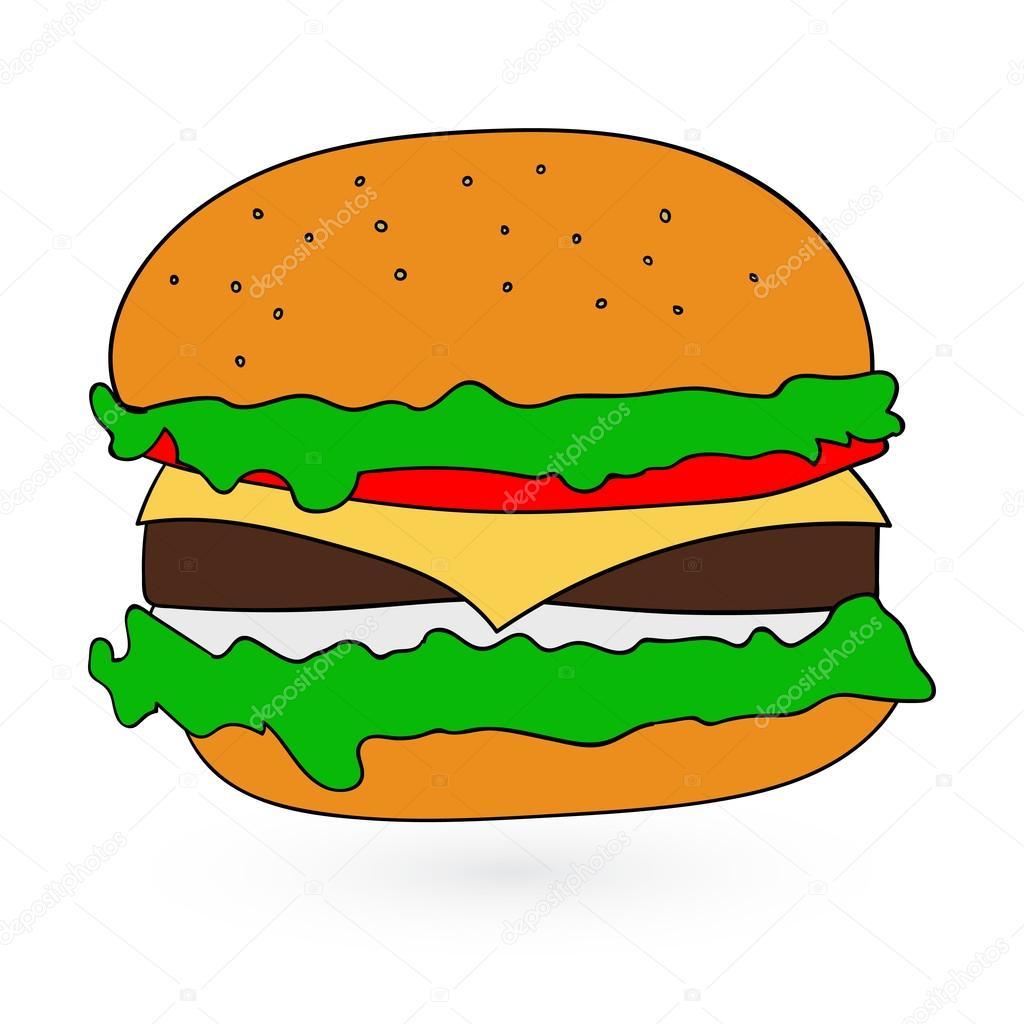 illustration of flat fast food icon Vector