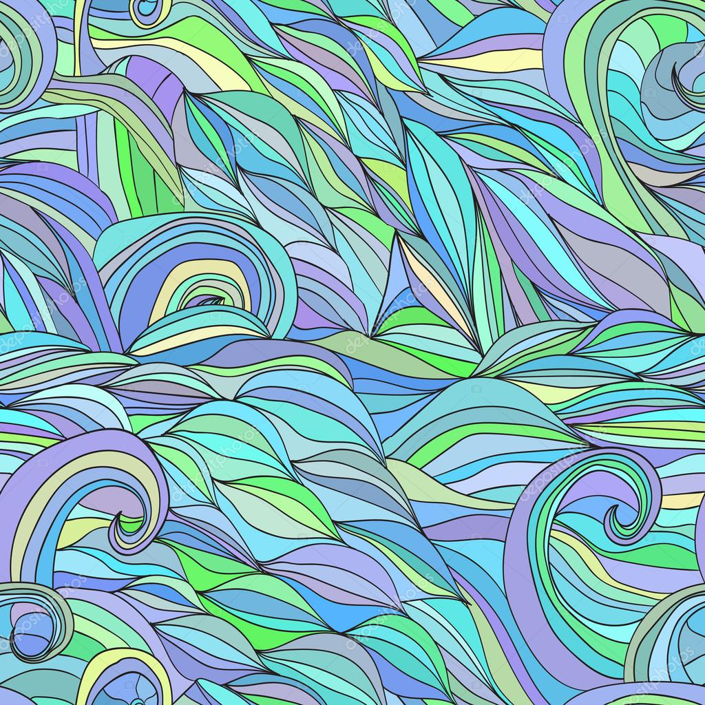 Colored hair waves abstract background