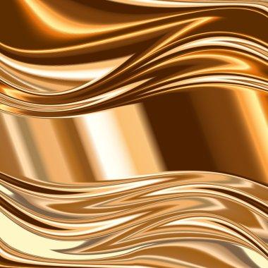 Metal background, gold brushed metallic