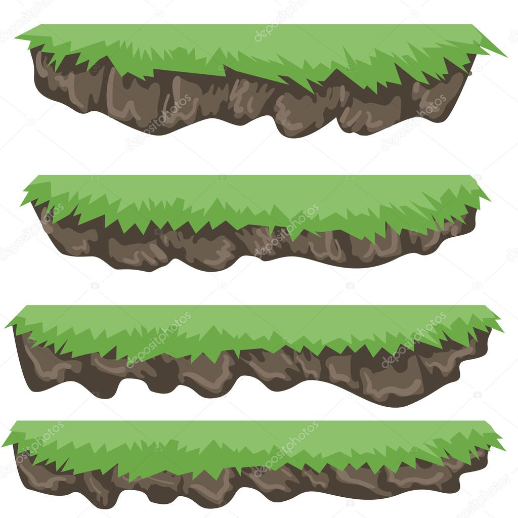 A set of vector game asset, contains ground tiles