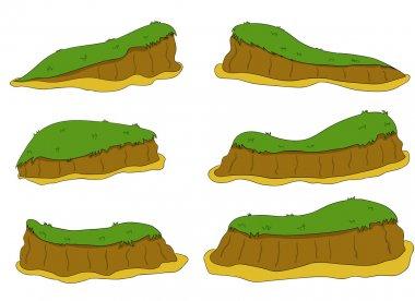 Cartoon nature landscape, vector background