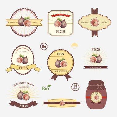 Figs, set of label design