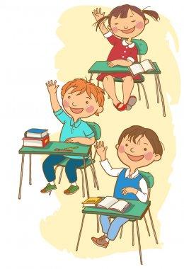 School children at classes