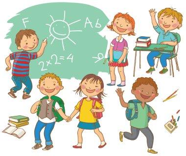 Cute School children