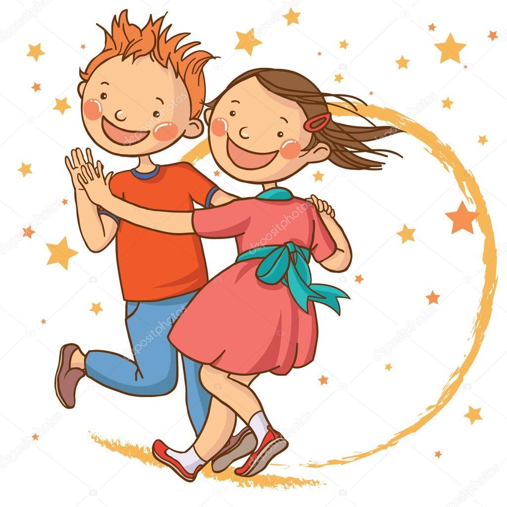 Cute dancing children. — Stock Vector © kimazo #68480685 Child Dancing Clipart