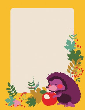 Hedgehog October placard