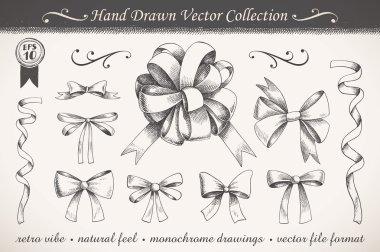 Hand drawn ribbons and bows
