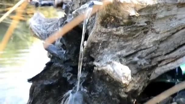 Malý vodopád v zahradním jezírku