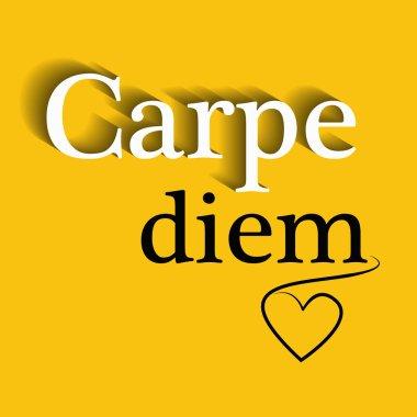 Carpe diem - motivational quote