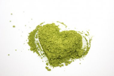 Matcha heart green tea