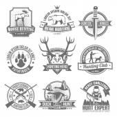 Fekete vadászat emblémák beállítása