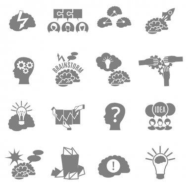 Brainstorm Flat Icons Set