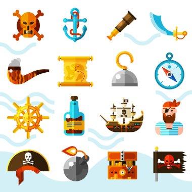 Pirates Color Icons Set