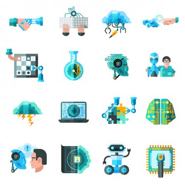 Artificial Intelligence Icons Set