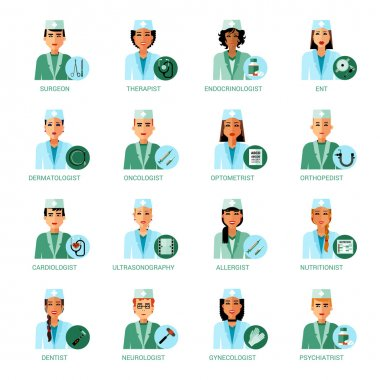 Medical Professions Avatars Set