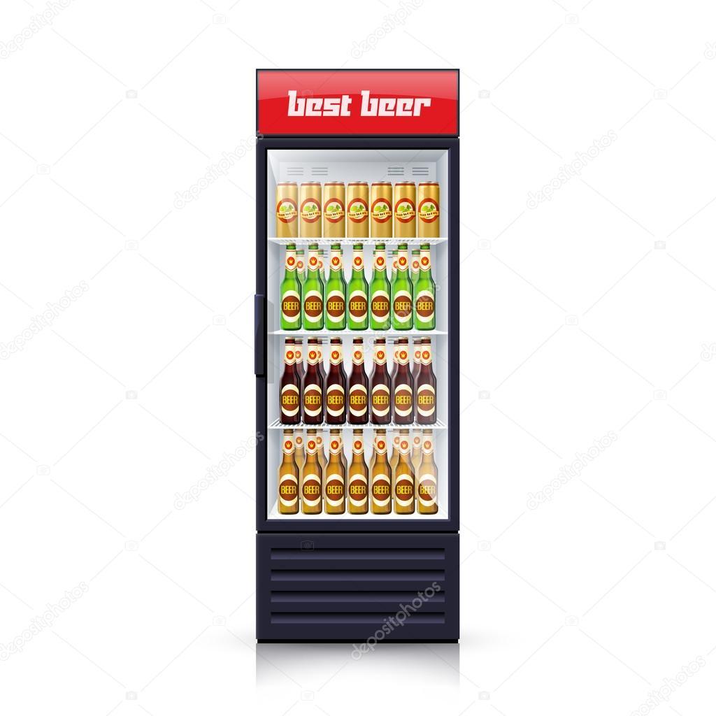 Bier Kühlschrank Dispenser realistische Abbildung Symbol ...