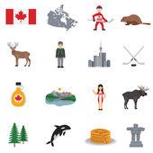 Fotografie Kanada-flache Ikonen-Satz