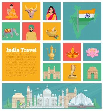 India Decorative Flat Icons