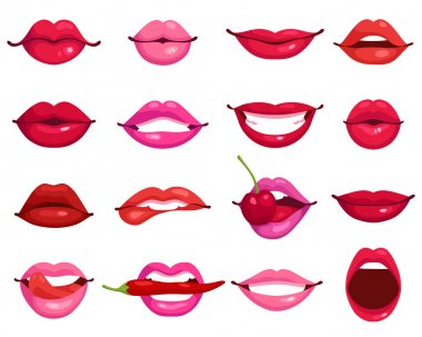 Lips Cartoon Set