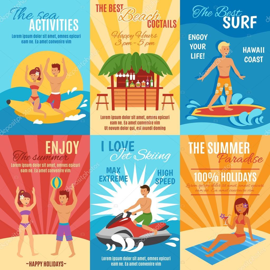 Beach poster set