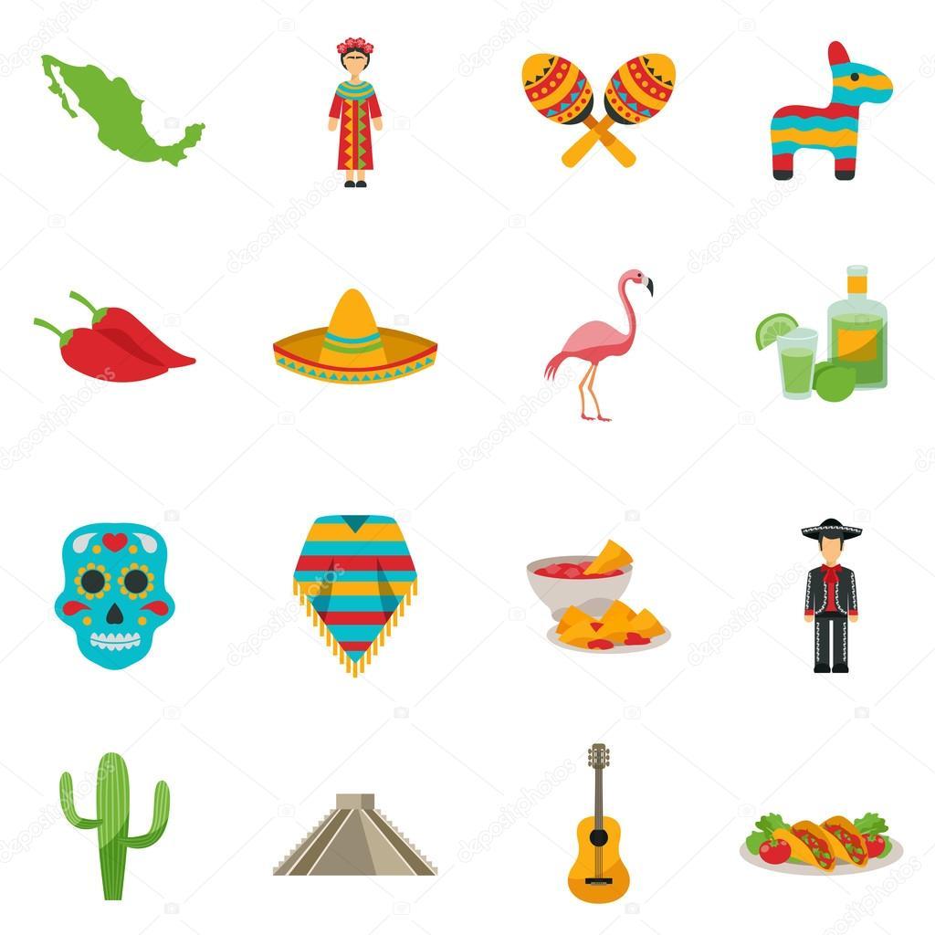 Mexico Flat Icon Set