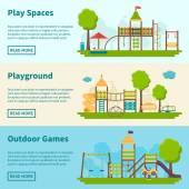 Transparente zum Spielplatzkonzept