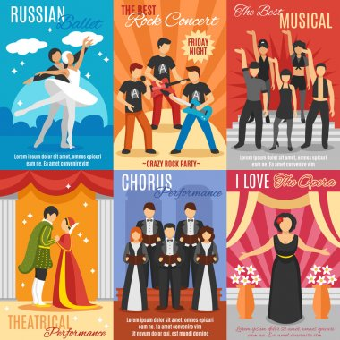 Flat Theatre Posters Set