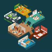 Fotografie Multi Storied Shopping Mall Isometric Icon