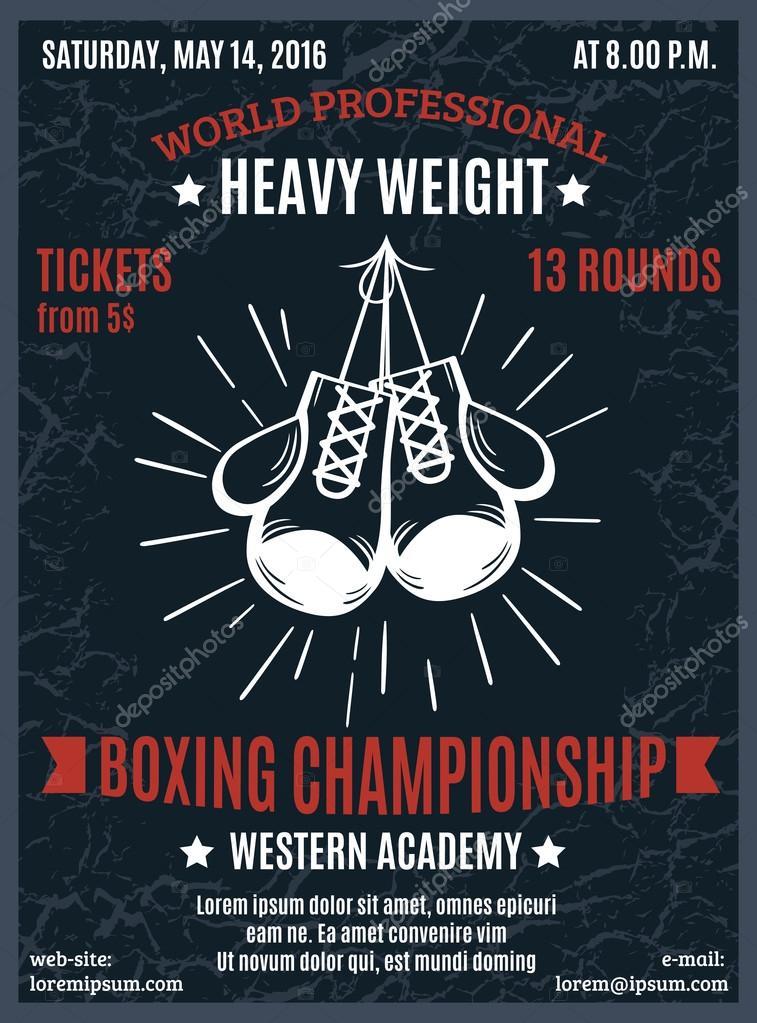 boxing professional championship poster ストックベクター