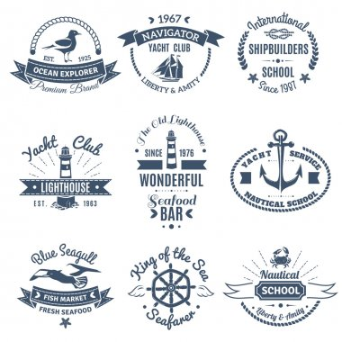 Nautical Marine Labels And Logos