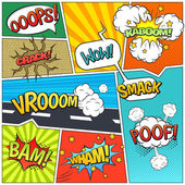 Fotografie Comics Buchseite Blasen Zusammensetzung drucken