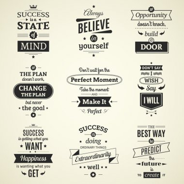 Success Quotes Typographical Posters