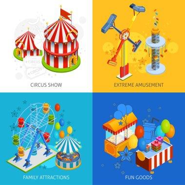 Amusement Park 2x2 Isometric Design Concept