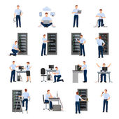 Fotografie Systemadministrator Icons Set