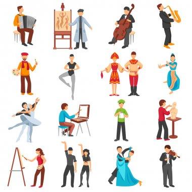 Artist People Icons Set