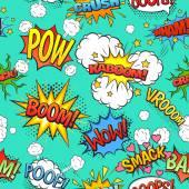 Fotografie Comic-Sprechblasen nahtlose Muster Hintergrund