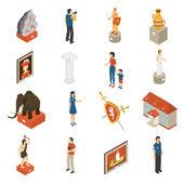 Fotografie Art Museum Isometric Icons Set