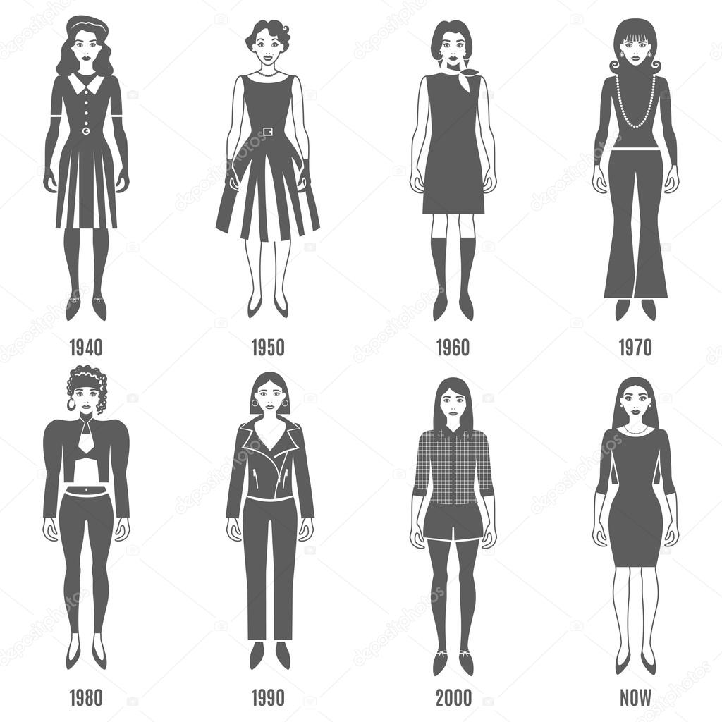 Illustration femme mode - Evolution de la mode ...
