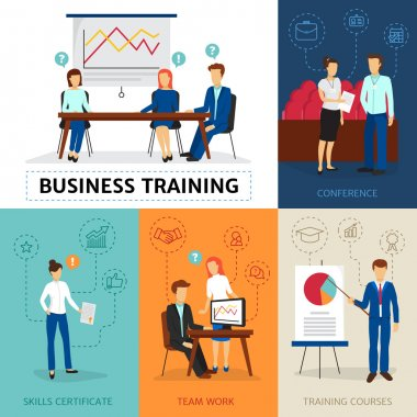 Business Training  Concept Composition Banner
