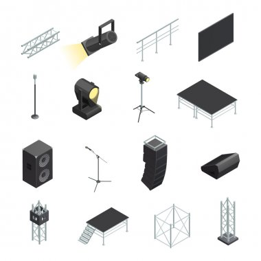 Icons Set Of Stage Elements