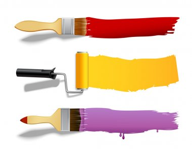Paint brush and roller banners