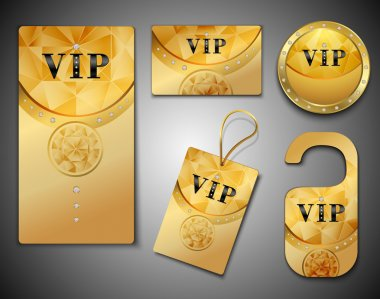 Vip cards design template