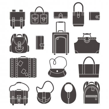 Bags icons set
