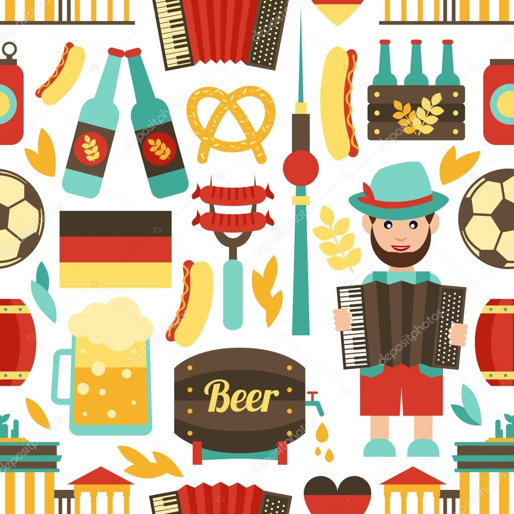 Germany travel seamless pattern