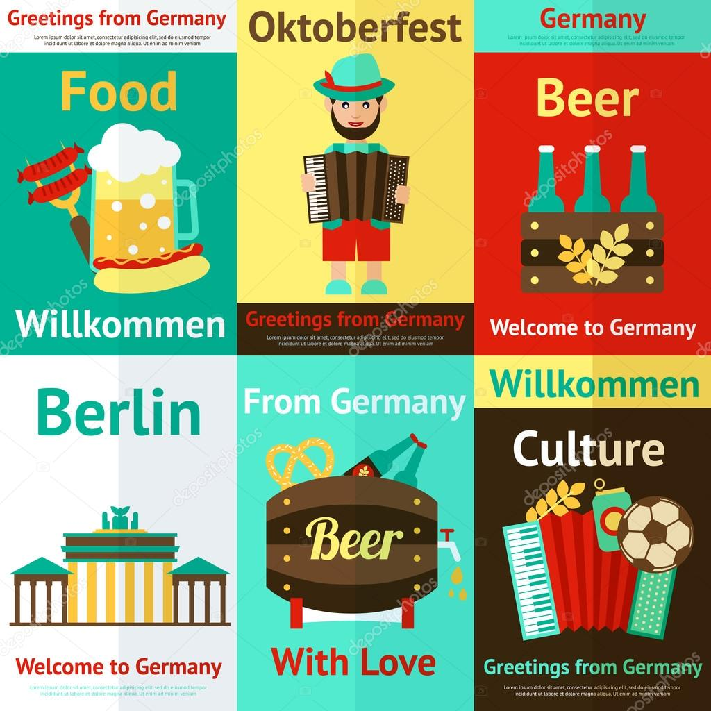 I Want To Visit Germany In German: ̊�톡 ˲�터 © Macrovector #52853399